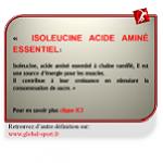 Isoleucine acide aminé essentiel stimule la croissance musculaire