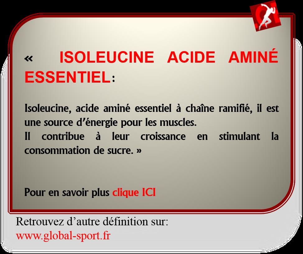 Isoleucine acide aminé essentiel pour stimuler la croissance musculaire
