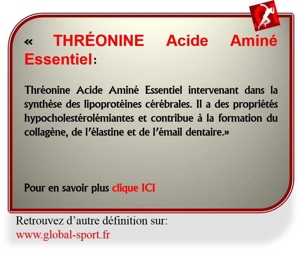 Threonine acide amine essentiel hypocholesterolemiante