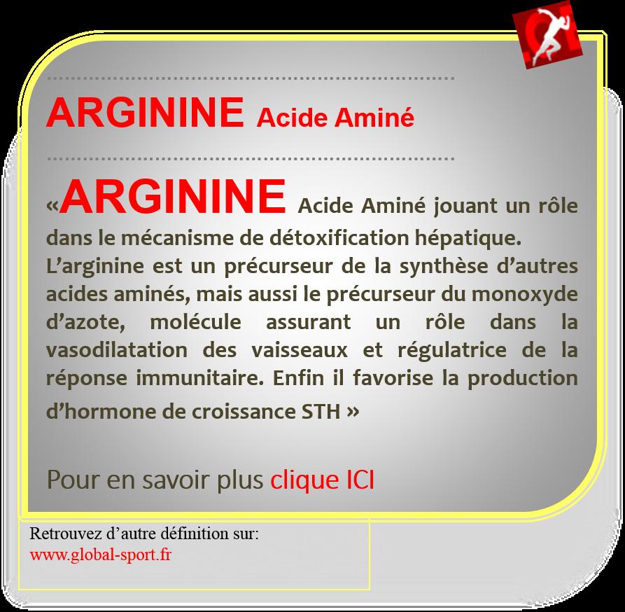 Arginine acide aminé stimulant l'hormone de croissance