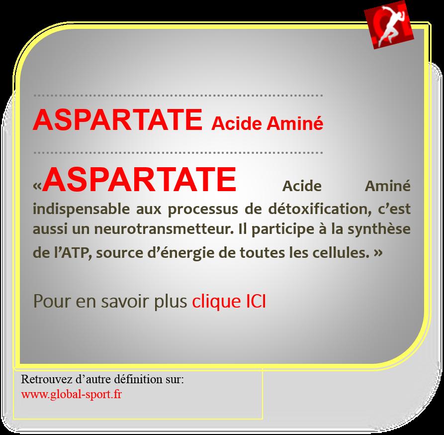 aspartate acide aminé source d'énergie