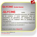 Glycine acide aminé précurseur de la créatine