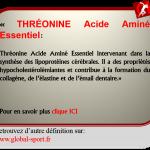 Thréonine Acide Aminé qui fait baisser votre cholestérol