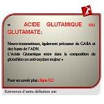 ACIDE GLUTAMIQUE ou GLUTAMATE, anti-oxydant